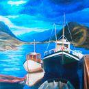 Noorwegen, acryl op doek