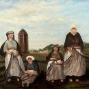 Nettenboetsters voor de watertoren van Scheveningen