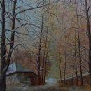 Winter in het bos, 115x90 cm, olieverf op doek
