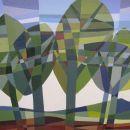 Landschap met bomen 1, olieverf op linnen, 30x40