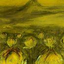Bolchrysantenveld | 155 x 125 cm| acrylverf op doek | 2001