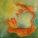 Abstract, gemengde techniek, 60 x 60 cm, 2018