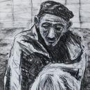 gevangene 42x32 houtskool op papier 2018